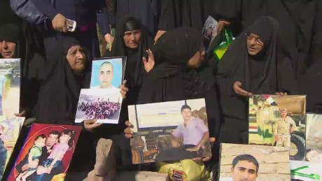 Tikrit: Families wait on news of  their missing sons