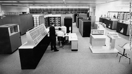 Computers, such as this IBM setup, were starting to take over business operations -- as Sterling Cooper saw last year.