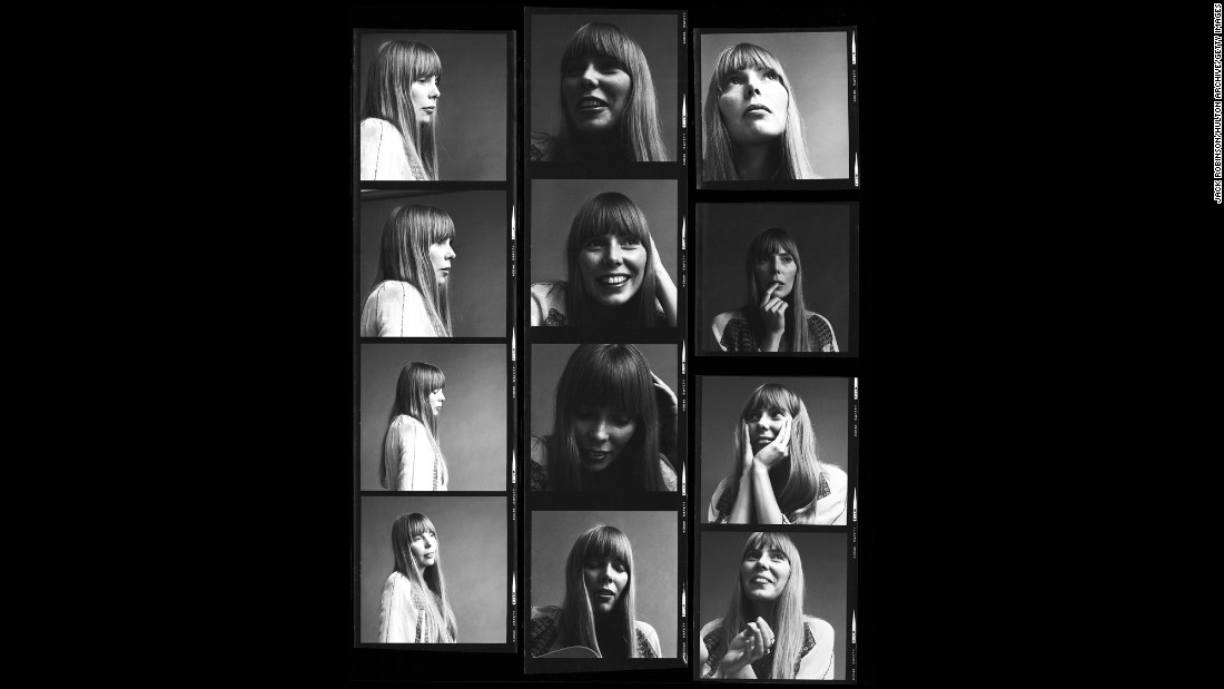 "A contact sheet from 1968 captures images of Joni Mitchell as the waiflike folk singer who would soon become a major force in pop music. <a href=""http://www.cnn.com/2015/04/01/entertainment/joni-mitchell-hospitalized/index.html"">Mitchell, 71, was hospitalized</a> in Southern California on March 31, after being found unconscious in her home."