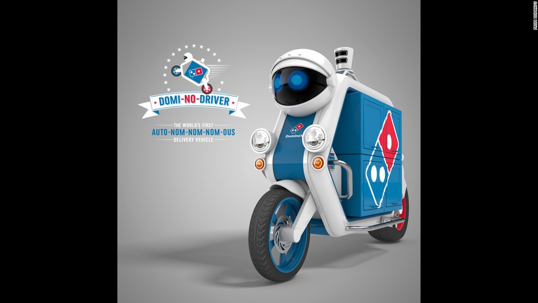 "Domino's announced its ""<a href=""https://www.dominos.co.uk/blog/dominos-rolls-out-driverless-delivery-vehicles/?utm_medium=Affiliates&utm_campaign=CN_www.zdnet.com&utm_content=AffiliateWindow-Sub+Networks&utm_source=VigLink+Inc&utm_term=CN_AffiliateWindow"" target=""_blank"">Domi-No-Driver,</a>"" described as the world's first driverless pizza-delivery vehicle. The company said the bikes come equipped with ""H.U.N.G.A.R. (Hunger Detection and Ranging) to help them detect and navigate real-time obstacles."""