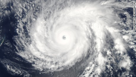 This natural-color image of super typhoon Maysak was acquired by the Moderate Resolution Imaging Spectroradiometer (MODIS) on NASA's Aqua satellite at 1:55 p.m. local time (0355 Universal Time) on March 31, 2015. The category 5 typhoon was menacing the islands of Micronesia and headed for a possible landfall in the Philippines by the end of the week. NASA Earth Observatory by Jeff Schmaltz, LANCE/EOSDIS Rapid Response. Caption by Mike Carlowicz.