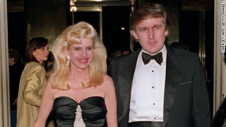 Donald Trump and his then-wife, Ivana, arrive December 4, 1989 at a social engagement in New York.