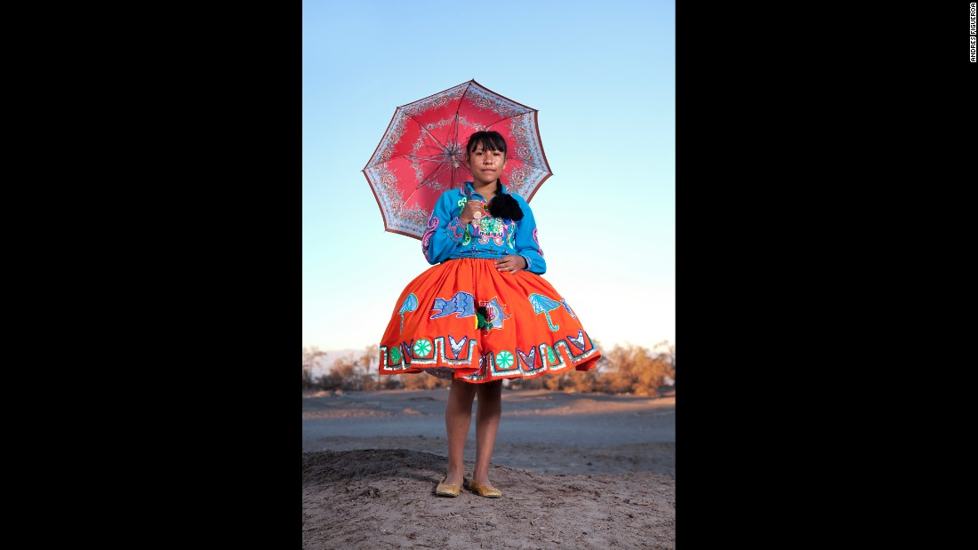 "Karla Tejeda is from Arica, Chile. ""From a portraiture standpoint, I used a formal approach to explain this living culture that is constantly growing and reinventing itself,"" Figueroa said. ""I asked each character to stop to be photographed, taking them away momentarily from the festival in a more intimate scenario."""