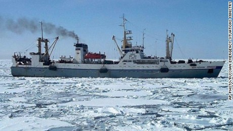 In this undated photo, a Dalniy Vostok Russian trawler is seen in an undisclosed location.