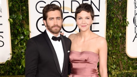 Jake Gyllenhaal and Maggie Gyllenhaal attend the 72nd Annual Golden Globe Awards.