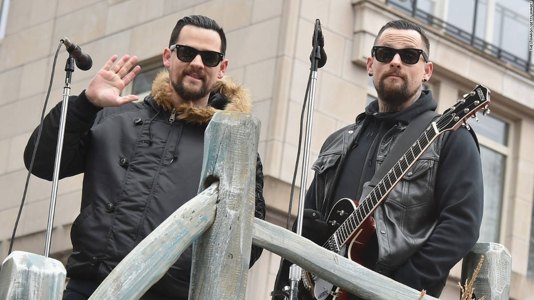 "Twins Joel, left, and Benji Madden gained fame after forming the rock band Good Charlotte in the 1990s. Both brothers have appeared on ""The Voice"" as talent judges."