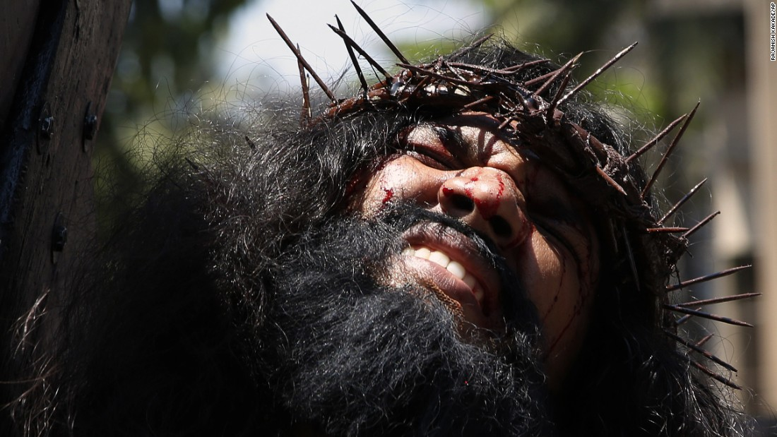 A Christian in Mumbai, India, plays the role of Jesus Christ during a re-enactment April 3 to mark Good Friday.