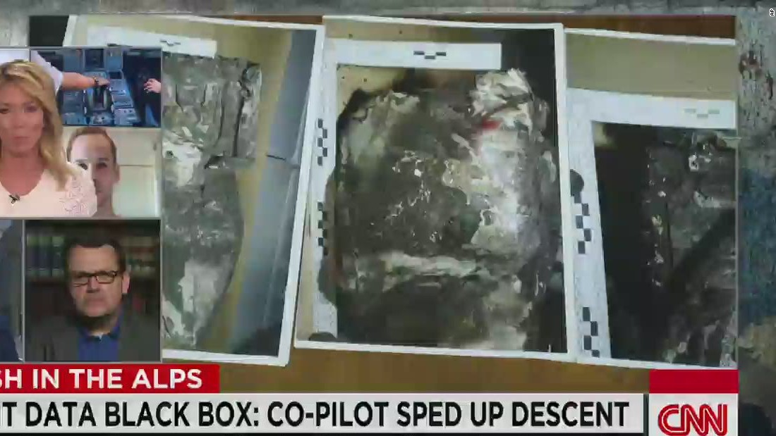 Germanwings 'black box' shows co-pilot Andreas Lubitz sped up descent