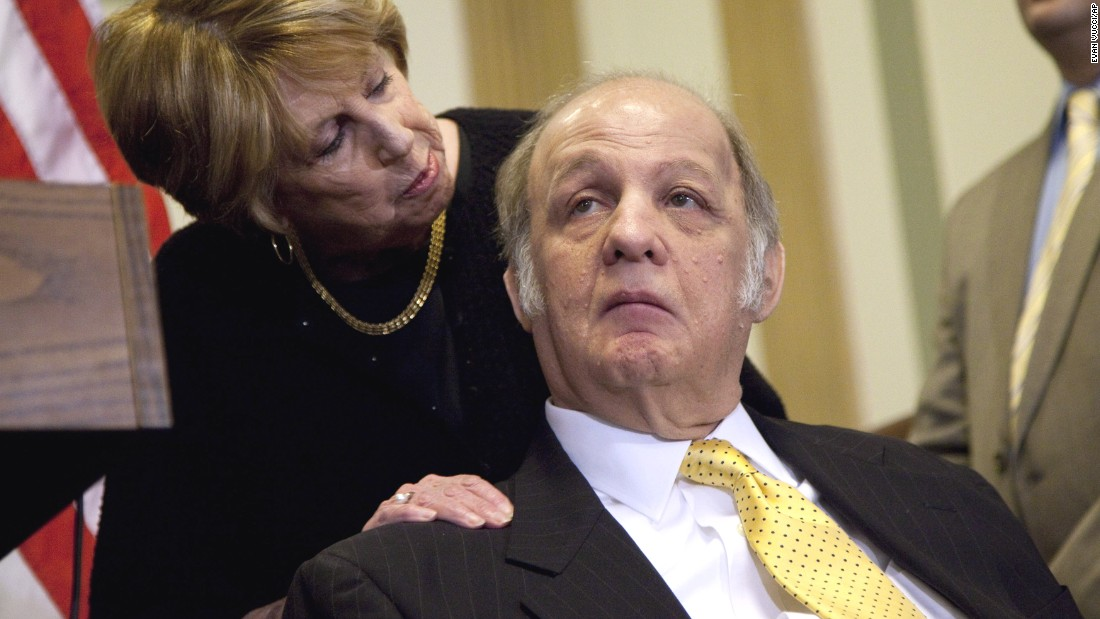 James Brady, alongside his wife Sarah, speaks in 2011 about new legislation curbing gun violence. He was a former White House press secretary who became a prominent gun-control advocate after he was wounded in the 1981 attempt on President Ronald Reagan's life. He died in August at the age of 73.