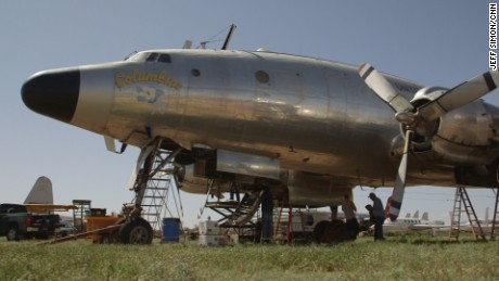 This it the first-ever Air Force One, the Columbine II. It carried President Dwight D. Eisenhower around the world from 1953-54 and is now baking in the Arizona desert.