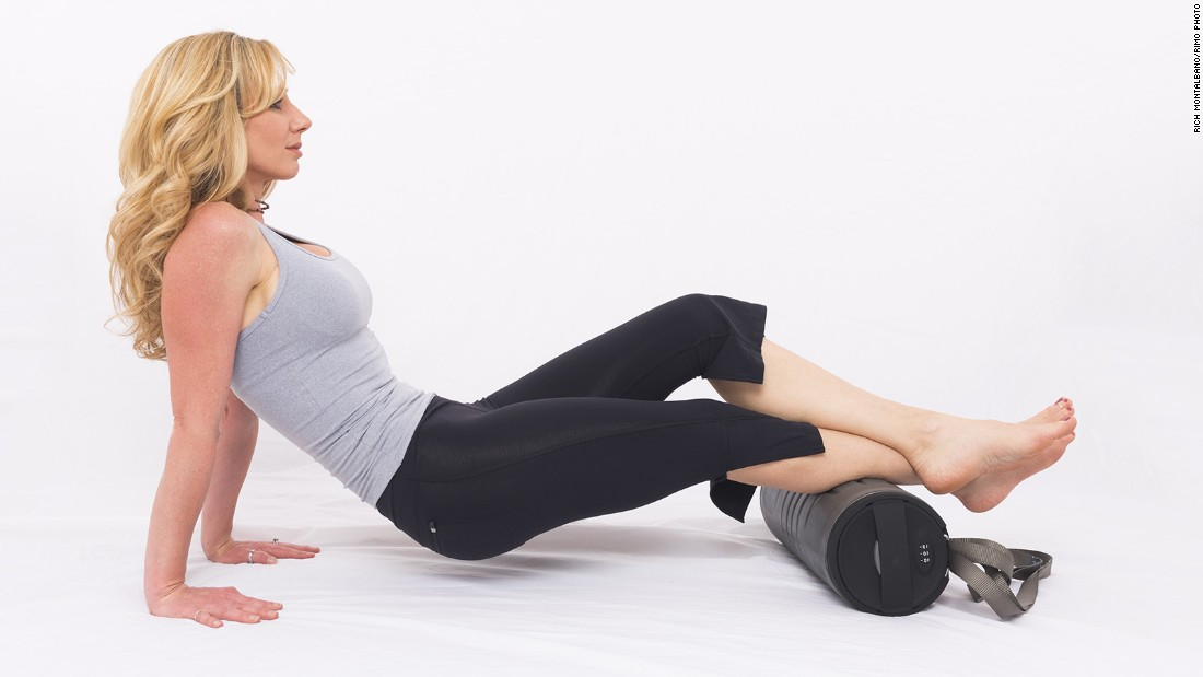 Feel like you need a massage? Try foam rolling. <br /><br />For calves: With both hands on the floor behind you for support, rest your calves (back of lower legs) on the roller. Cross your legs at the ankle. Roll from just above your ankle to just below your knee. Repeat on the other side.