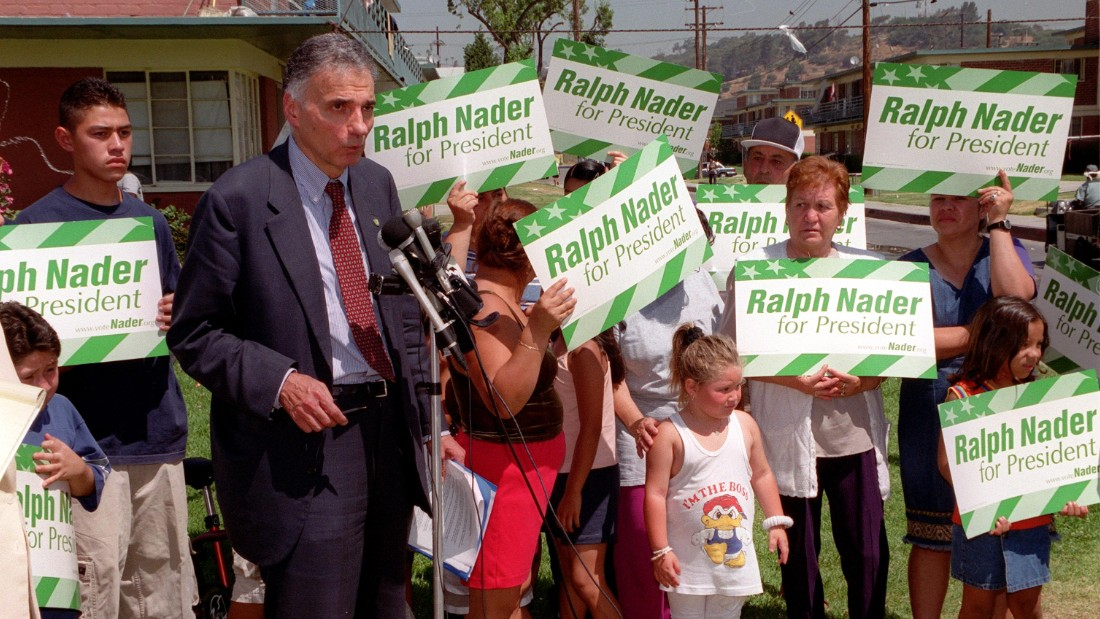 "In 2000, Ralph Nader ran on: ""Government Of, By, and For the People ... Not the Monied Interests."""