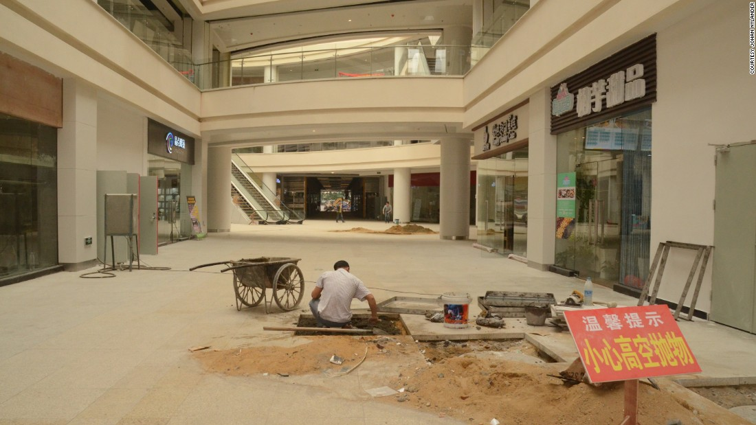 Construction work is underway. The mall is the biggest in the world, more than twice the size of Mall of America -- the biggest shopping center in the United States.