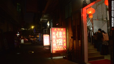 A hotel in a red light district of Dongguan, southern China
