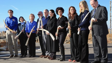 Officials, activists and conservationists, including Paula Kahumbu, before the destruction of six tons of confiscated ivory during the U.S. Ivory Crush in Commerce City, Colorado, on November 14, 2013.
