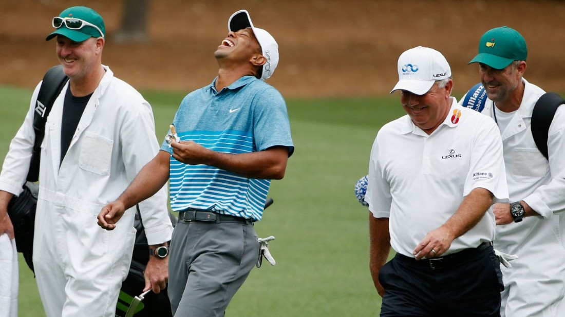 Woods played nine holes on Monday with 1998 Masters champion Mark O'Meara, who said he saw some good signs in the 14-time major winner's game.