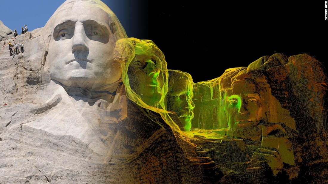 The Mount Rushmore National Memorial is one of the monuments that CyArk has digitally captured using 3D laser scanning.