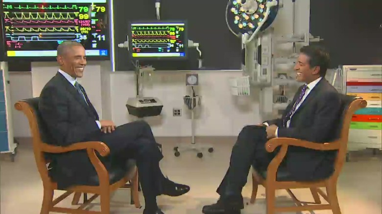 Dr. Sanjay Gupta interviews President Obama about climate change and public health