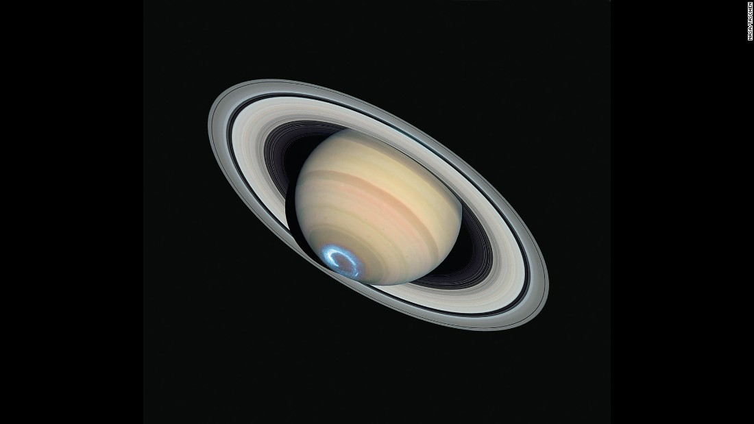 Hubble captured this image of Saturn in 2004, a view so sharp that some of the planet's smaller rings are visible.