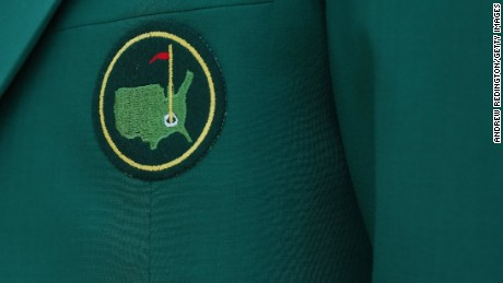 A detailed shot of a member's jacket during the first round of the 2015 Masters Tournament at Augusta National Golf Club on April 9, 2015 in Atlanta, Georgia. (Photo by Andrew Redington/Getty Images)