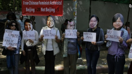 Protesters demand release of rights activists in China