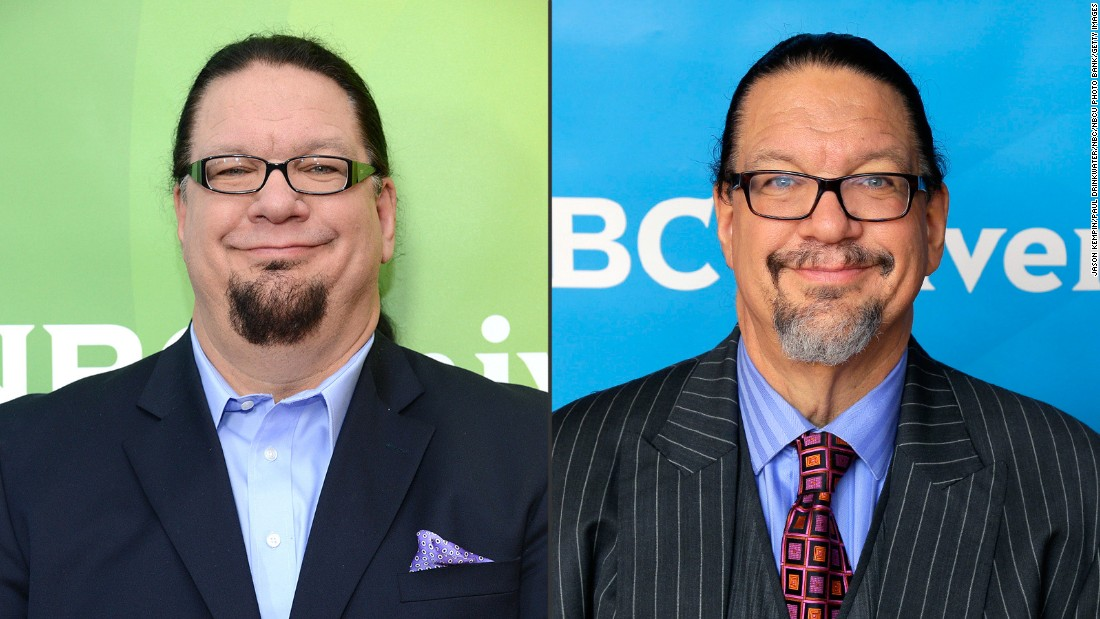 "Penn Jillette<a href=""http://greatideas.people.com/2015/04/08/penn-jillette-weight-loss-las-vegas-home/"" target=""_blank""> told People magazine </a>there was no magic involved in his weight loss from 330 to 225 pounds. The performer, who is half of the illusionist act Penn & Teller, just changed his eating habits to shed 105 pounds and get his high blood pressure under control."