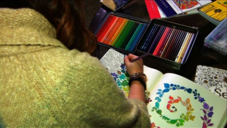 Coloring books for adults are topping bestseller lists