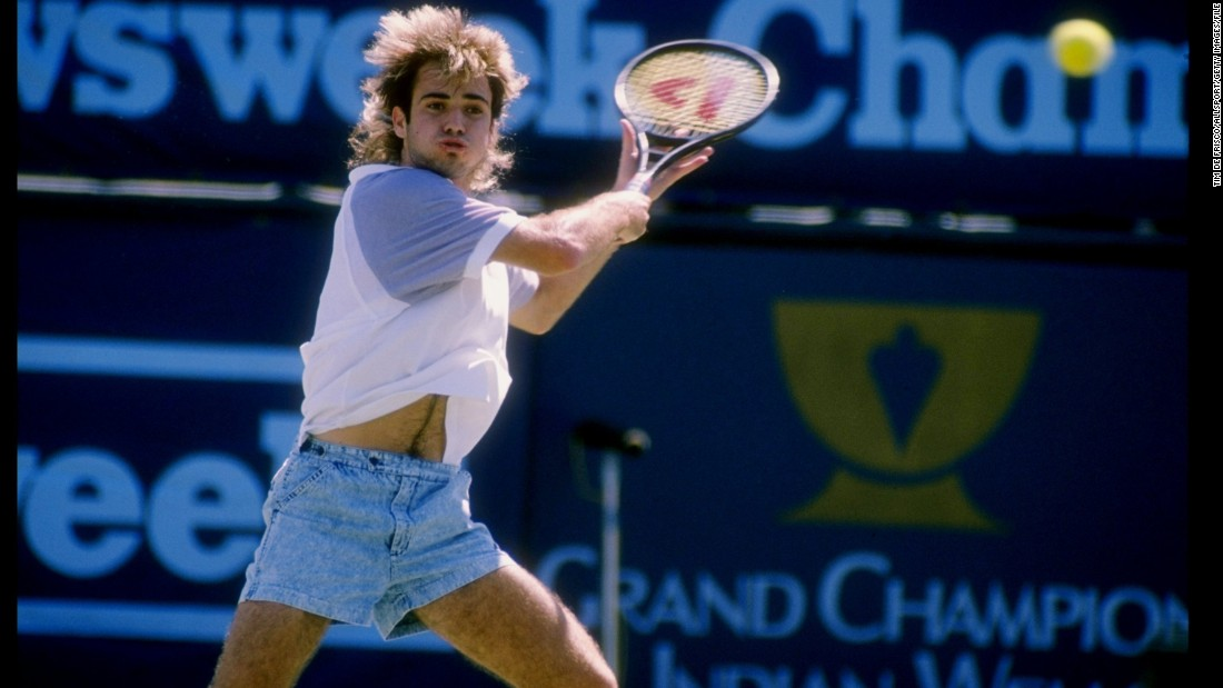 Thought you couldn't play tennis in denim shorts? Try telling that to Andre Agassi in 1989.