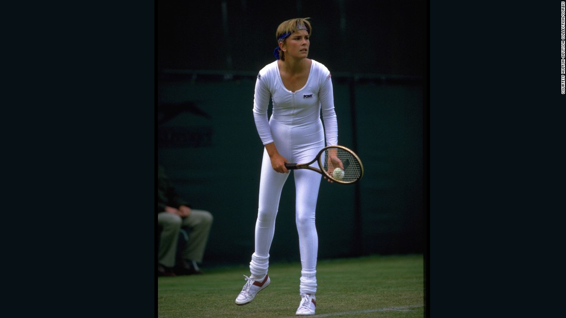 "Note to self: If you're going to walk onto a court in a white Lycra bodysuit, then you don't want to walk off the court a loser. Luckily, American player Anne White could hold her head high after winning in this space-age suit in 1985.<br />This picture features in the book,<a href=""http://www.teneues.com/shop-int/the-stylish-life-tennis2.html"" target=""_blank""> ""The Stylish Life: Tennis,""</a> published by teNeues, courtesy Hulton-Deutsch Collection/CORBIS."