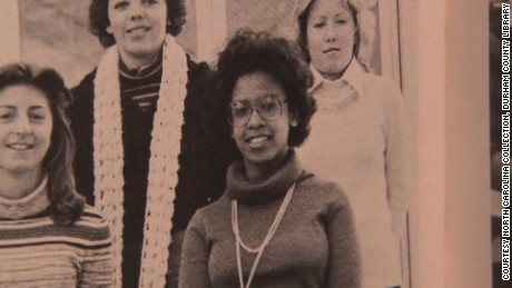 Loretta Lynch as seen in a yearbook photograph.