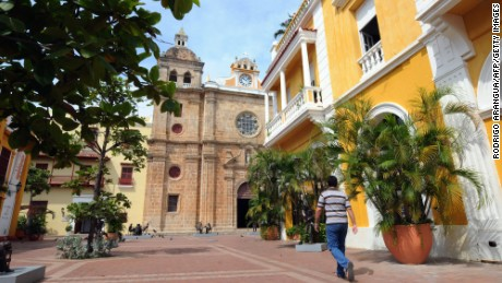 The fortified old town of Cartagena, Colombia's biggest tourist draw.