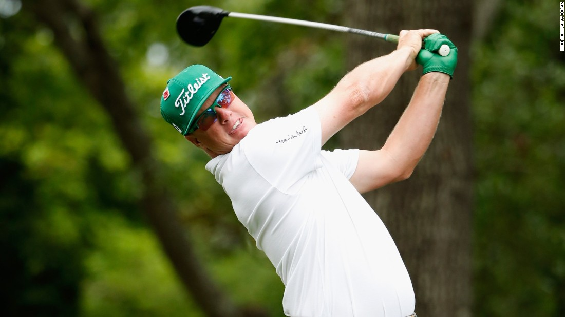 American Charley Hoffman, seeking his first top-10 finish in a major, dropped a shot at his opening hole before steadying with four pars.