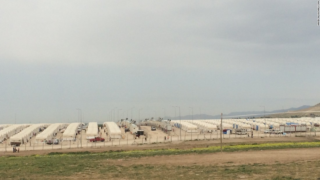 The Shariya camp opened six months ago and now 4,000 tents line the dusty ground, providing shelter to thousands of refugees.