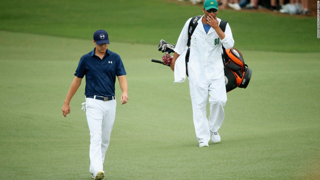 With nine holes to play, Jordan Spieth was marching towards his first major title after extending his lead at the Masters by one shot to five over Justin Rose.