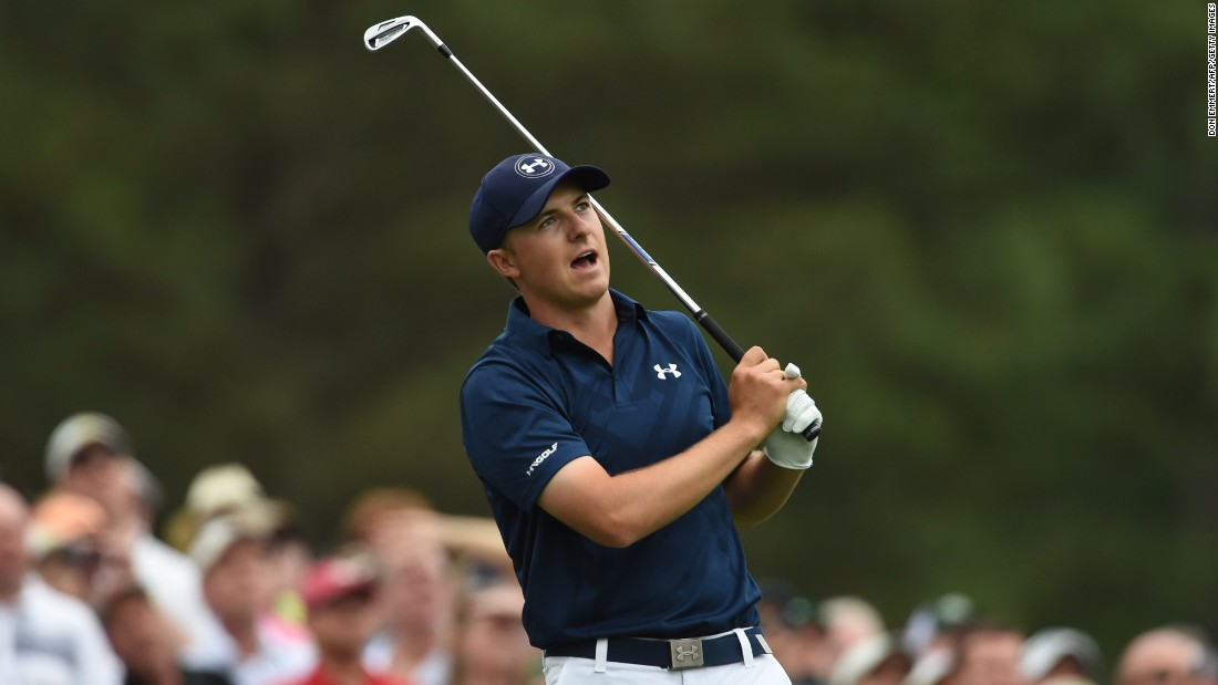 Runaway leader Jordan Spieth became the first golfer to reach 19 under par at the Masters, eclipsing Tiger Woods' 1997 record, with his 28th birdie of the week at the 15th hole. It kept him four clear of Justin Rose.