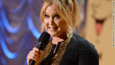 2015 MTV Movie Awards host Amy Schumer had some hits -- and a literal miss -- during the show.