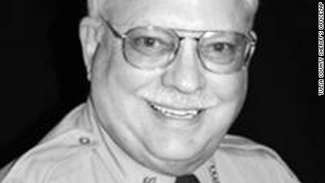 In this photo provided by the Tulsa County, Oklahoma, Sheriff's Office is Tulsa County reserve deputy Robert Bates. Police say Bates, a 73-year-old white reserve deputy, thought he was holding a stun gun, not his handgun, when he fired at 44-year-old Eric Harris in an April 2 incident. Harris, who is black, was treated by medics at the scene and died in a Tulsa hospital. (Tulsa County Sheriff's Office via AP)