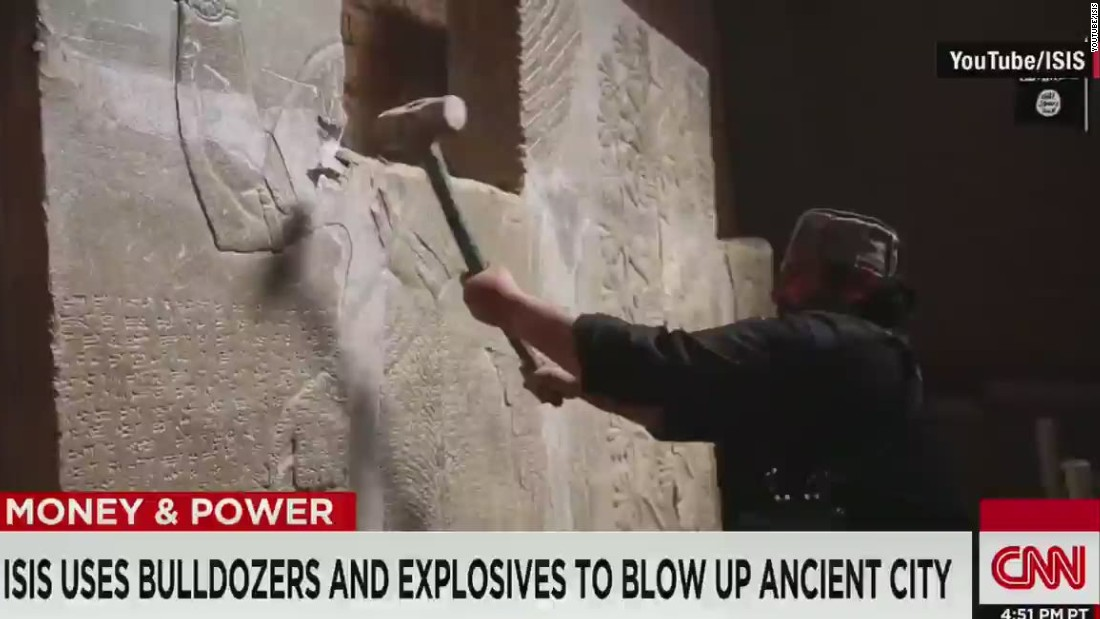 Tracking a trail of historical obliteration: ISIS trumpets destruction of Nimrud