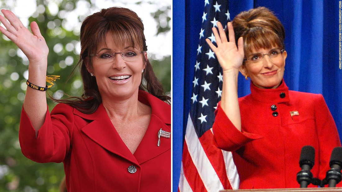 Actress Tina Fey's parody of Sarah Palin became a favorite during the 2008 presidential election.