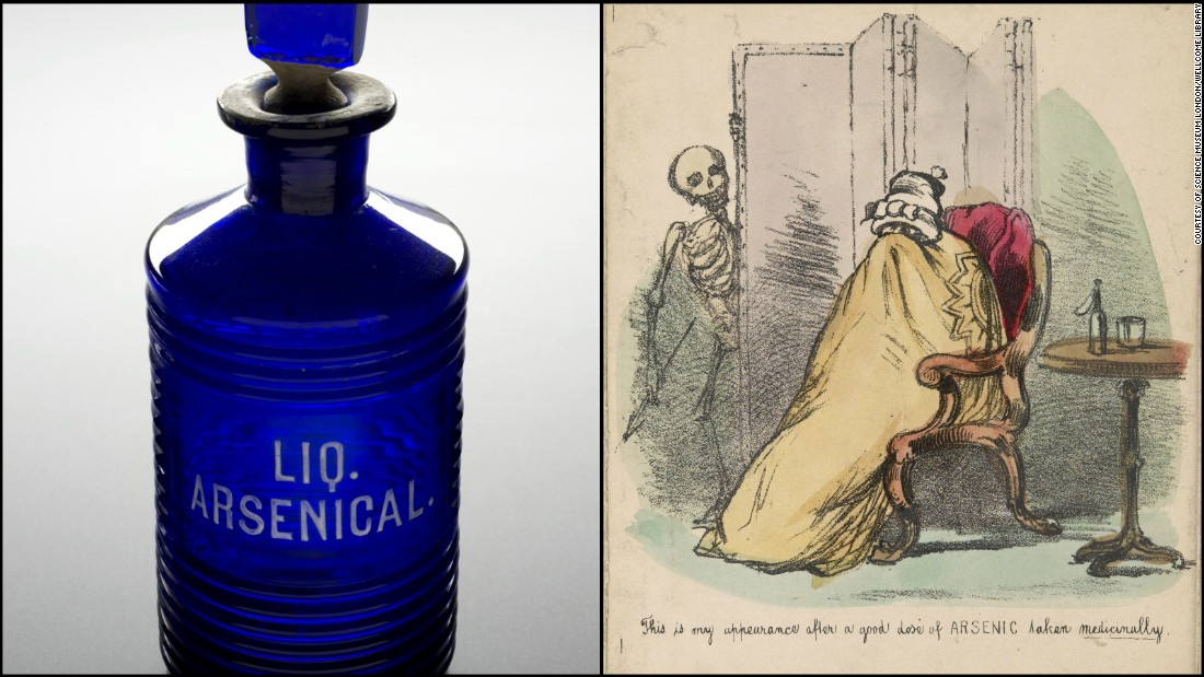 "From the 15th century onwards, people believed the body was made up of different elements which were needed in the right proportions. ""If [they were] not, you used chemicals to put it in order,"" says Totelin. Those chemicals included lead, copper, silver and arsenic.<br /><br />""Arsenic has always been a known poison,"" adds Stein, but its toxic properties did have some benefits. ""It did kill bacteria but would not treat things long term,"" she says. In the 20th century arsenic was used in the first antibiotic treatment against syphilis, known as salvarsan, which was considered a magic bullet in the fight against the disease. It was a much needed alternative to pure mercury."