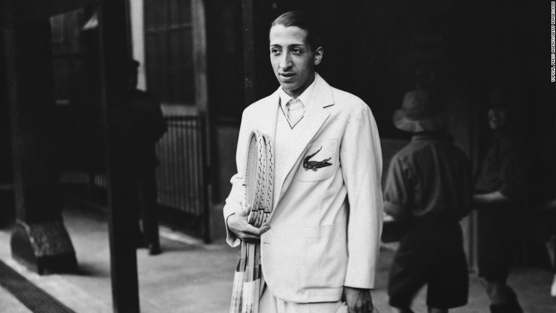 "Off the court, French player Rene Lacoste made his name as a fashion icon with his crocodile motif (pictured here in 1932).<br />""Lacoste, which became the polo shirt, has really become a staple of American and European menswear,"" says Rothenberg.<br />""It's the most lasting fashion footprint worldwide coming from tennis."""