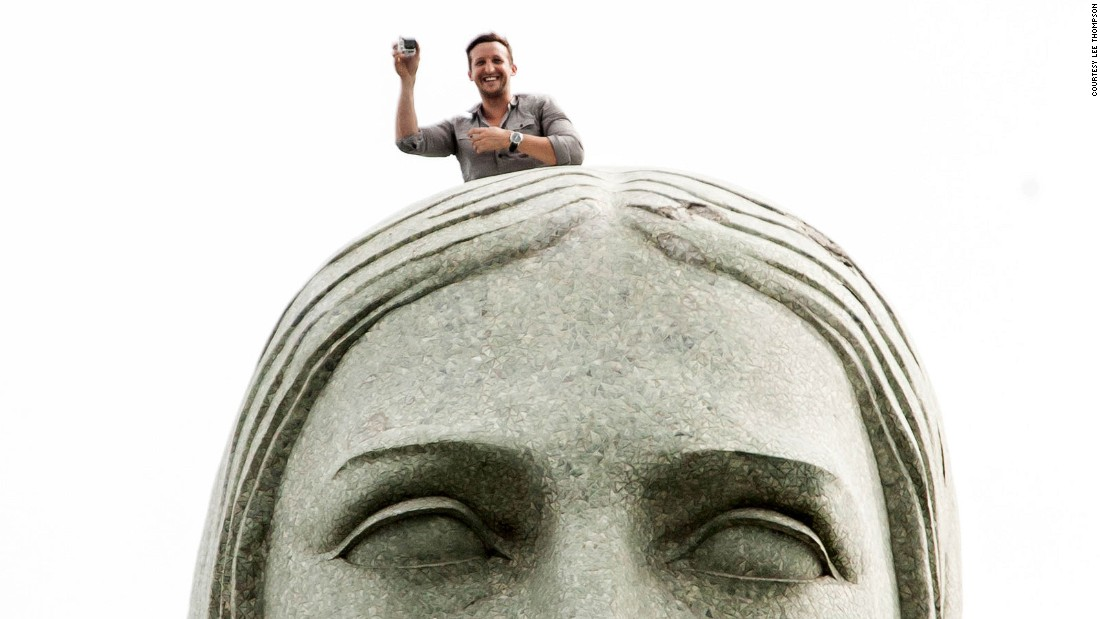 Experts Guide To Taking Epic Selfies CNN Travel - Guy takes epic selfie top christ redeemer statue brazil