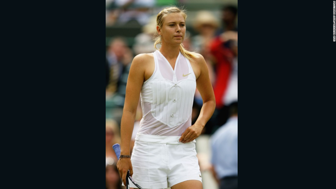 "Russia's Maria Sharapova had an interesting take on Wimbledon's ""all-white"" rule, sporting a tuxedo-style top in 2008."