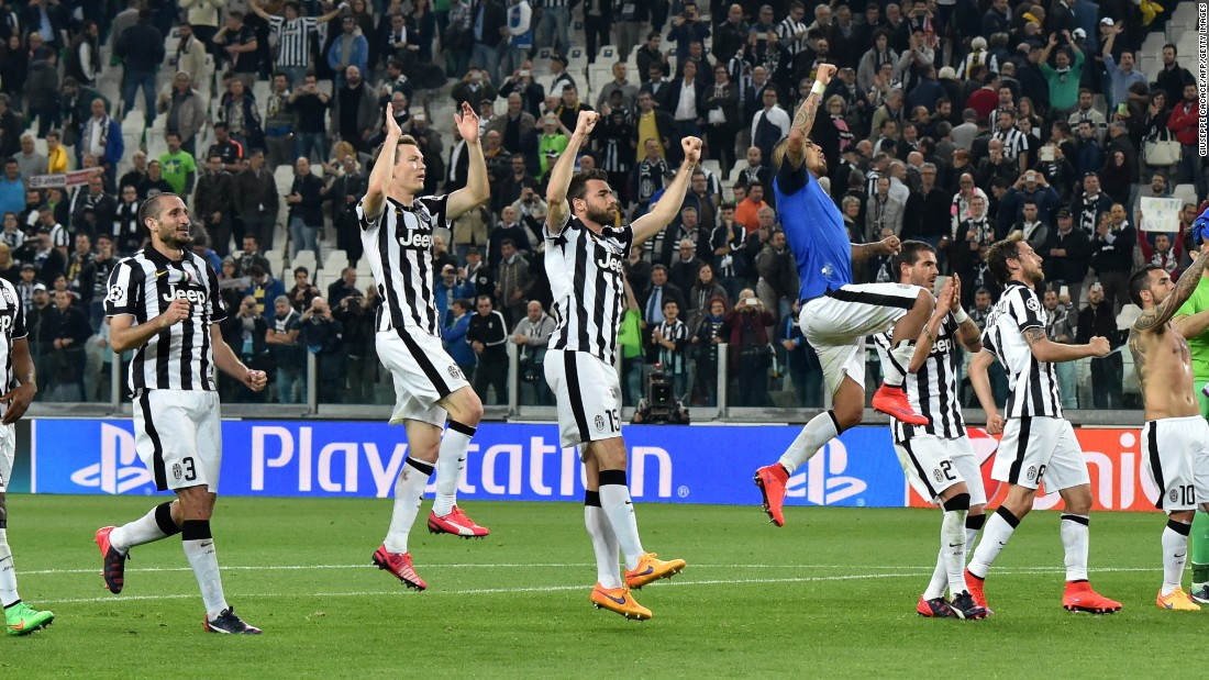 Despite its slender advantage, Juventus players were left to celebrate at the final whistle of the first leg tie.