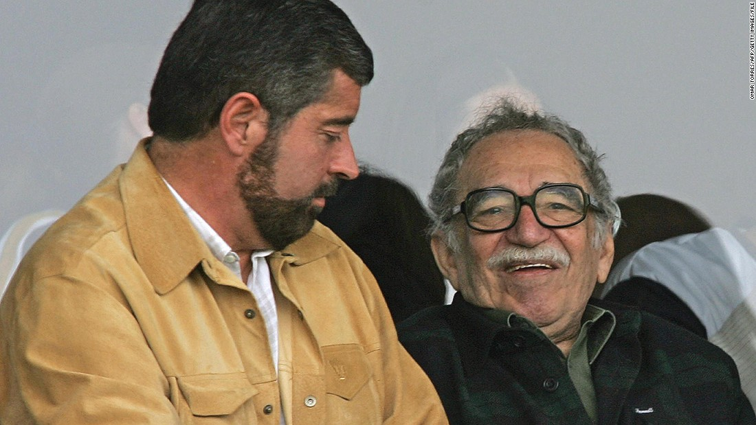"Author of ""One Hundred Years of Solitude"" Gabriel Garcia Marquez (R) was a fervent football supporter as well as a famed Colombian novelist who had many fans across Latin America."