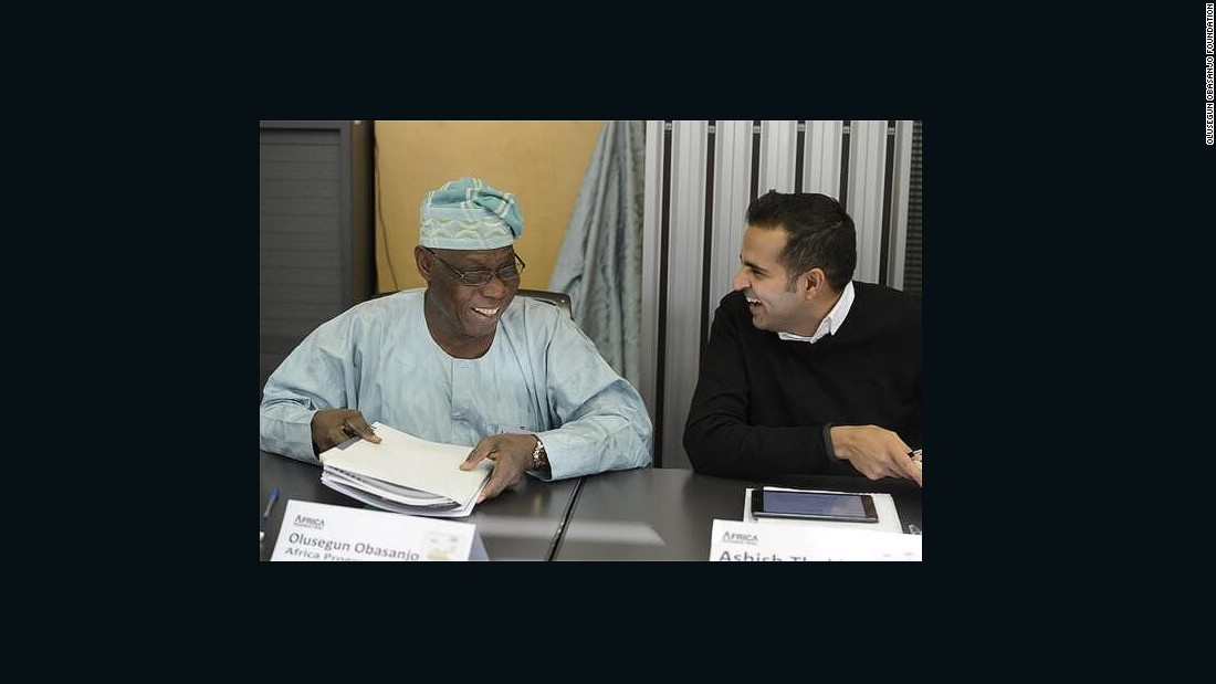 As well as meeting young entrepreneurs, Thakkar works with influential figures across Africa, such as former Nigerian President Olusegun Obasanjo, whose foundation works to advance human security in Africa.
