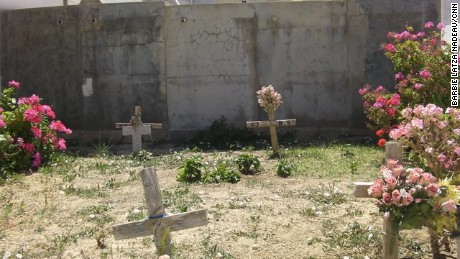 The bodies of migrants washed up on the shores of Lampedusa are buried in the local cemetery
