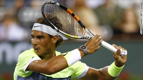 Rafa's racket is wired!