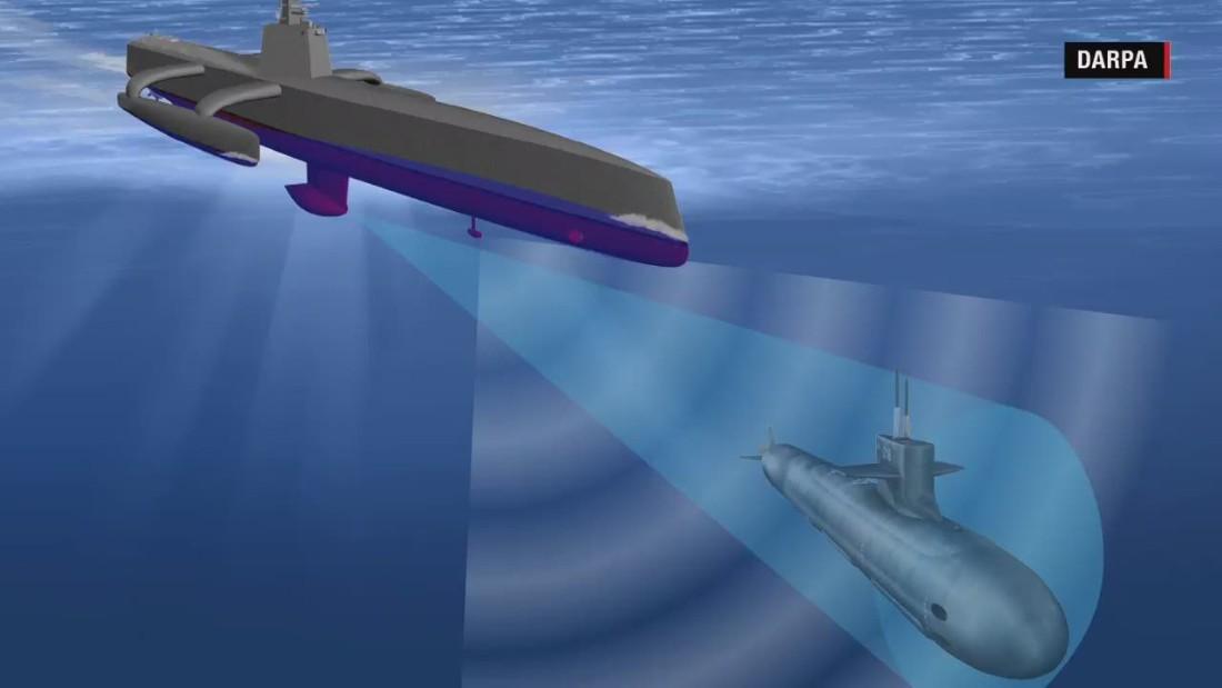 U.S. Navy tests new submarine-hunting drone ship