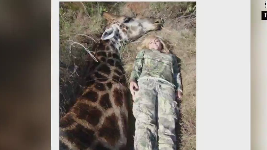 Photo of hunter, giraffe causes storm